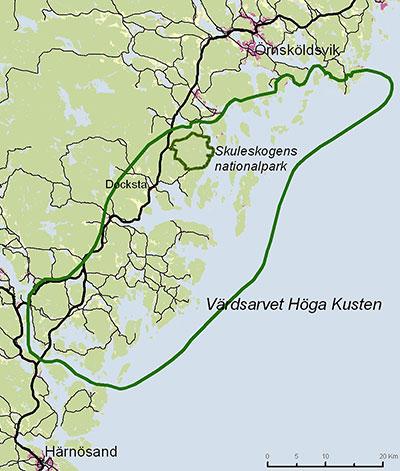 höga kustenleden karta Hitta hit | Besöksinformation | Skuleskogens nationalpark | Välj  höga kustenleden karta