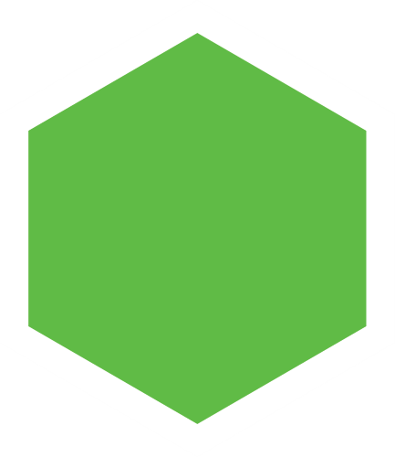 grön hexagon