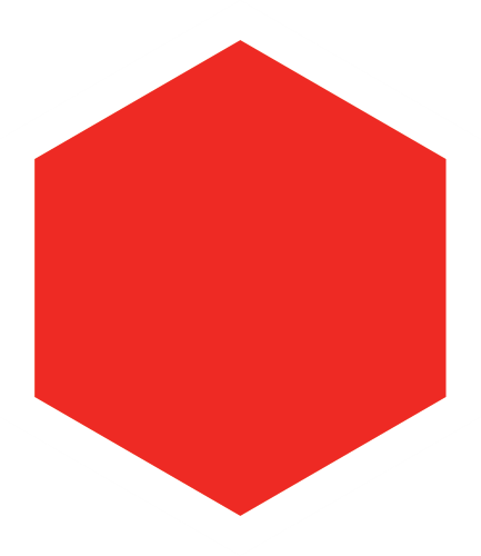röd hexagon