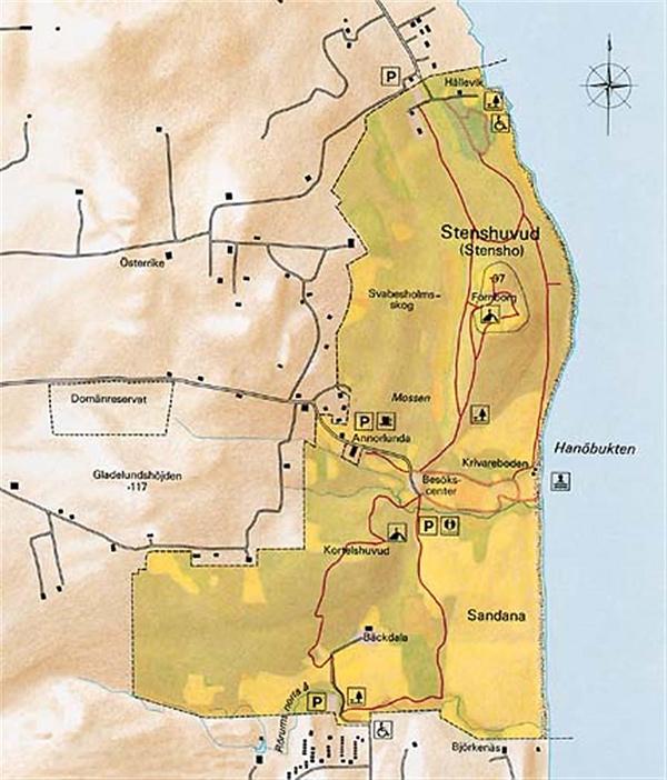 stenshuvud karta Hitta hit   Stenshuvuds nationalpark   Sveriges nationalparker  stenshuvud karta