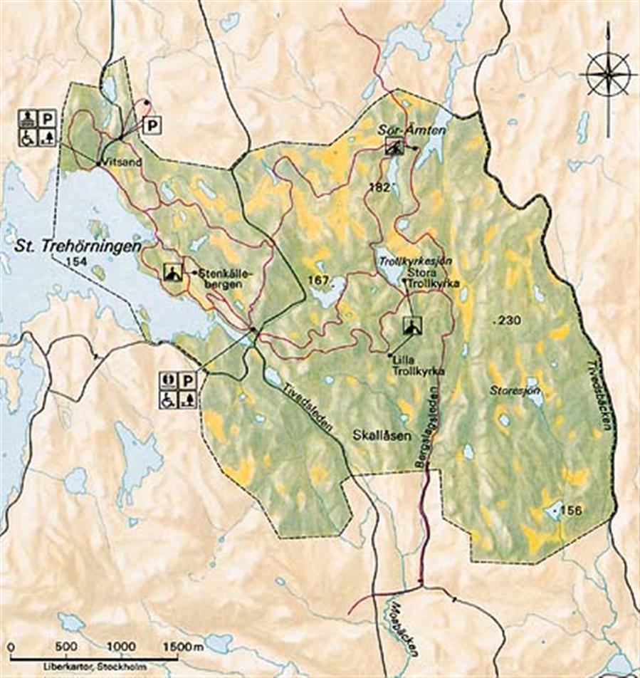 tiveden karta Hitta hit   Tivedens nationalpark   Sveriges nationalparker  tiveden karta