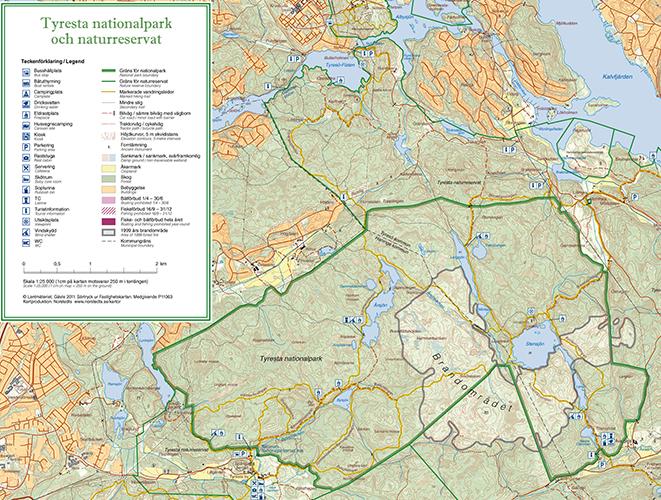 tyresta nationalpark karta Hitta hit   Tyresta nationalpark   Sveriges nationalparker  tyresta nationalpark karta
