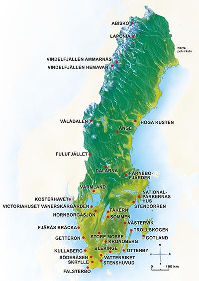karta sveriges Naturum   Välkommen ut till Sveriges finaste natur   Sveriges  karta sveriges